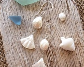 Beach Bride Earrings, Coin Pearl Earrings, White Earrings, Mother of Pearl, Beach Wedding Earrings, Summer Earrings, Mermaid Earrings, Boho