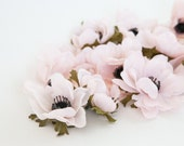 13 Anemones in Blush Pink - Artificial Flowers - ITEM 0979