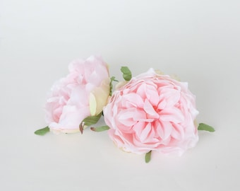 Blooming Peony in Soft Pink - 3 inches - Artificial Flower - ITEM 0839