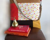 ON SALE // On My Way Rust, Burnt Orange, Golden Yellow, Brown and Retro Pattern Shoulder Bag