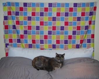 VINTAGE Boho patchwork cotton home dec sewing quilting