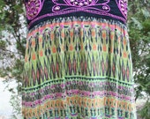 SALE Angie pink embroidered tank top India print rayon medium