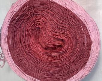 3-ply gradient tied cotton 100g light fingering Be Mine II