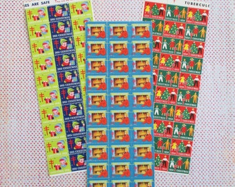 300 Vintage Tuberculosis Christmas Stamps or Seals (A)