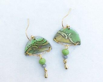 Vintage Tin Dangle Earrings