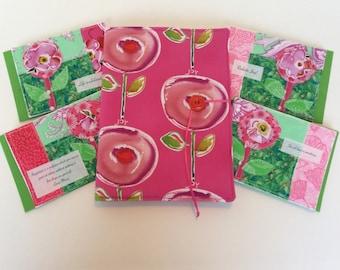 Greeting Card Set in Portfolio Kathy Davis Happiness Fabric FREE USA SHIP #2