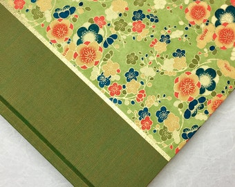 Wedding Album Vintage Green Flowers-,Gift,Scrapbook,Art Journal,Personalized Album
