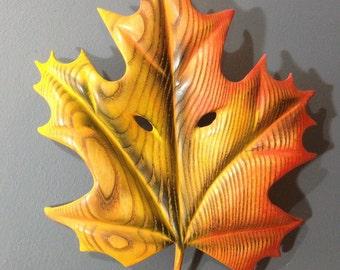 Leaf Wood Carving Mask Jason Tennant