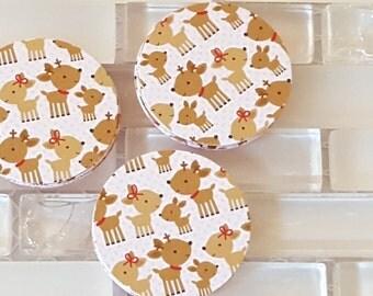 "Reindeer Family 1.5"" Sticker Set or Envelope Seal Stickers"