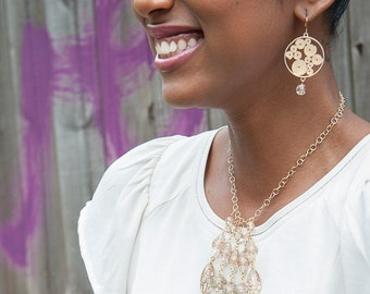 Vintage Gold Swirl Earrings, Gold Earrings, Vintage Earrings, Filigree Earrings