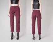 sale HIGH waist JEANS plum wrangler Boyfriend colored denim Pants vintage relaxed fit / Size