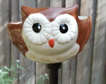 Yard Art Owl Feeder or bath