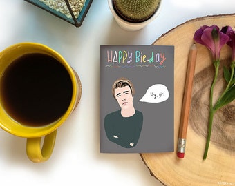 Justin Bieber Birthday card cc213