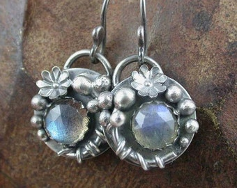 Labradorite Garden Vine Earrings