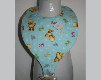 "Baby Bibs, Pacifier Bibs, Bibs with Pacifier, Bibs, Pacifier, "" Baby Ducks"""