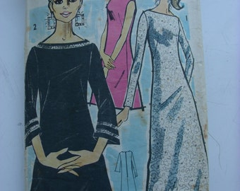 "1960s Dress - 36"" Bust - Maudella 5531 - Vintage Retro Sewing Pattern"