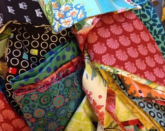 Half Pound O' Fabric Scraps - Fabric Scrap Bundle with 100% Quilting-Weight Cotton Fabric
