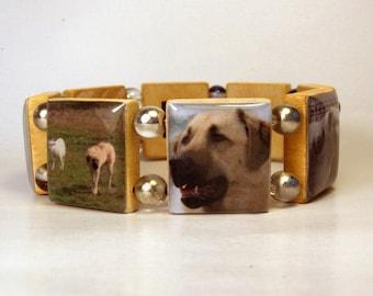 ANATOLIAN SHEPHERD Scrabble Bracelet / Dog Lover / Unusual Gifts / Handmade Jewelry