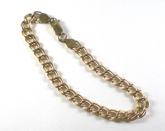 Sterling Silver Vermeil Chain Bracelet - Vintage jewelry