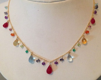 multi-gemstone ruby necklace