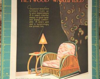 Original 1929 Heywood Wakefield Print Advertisement