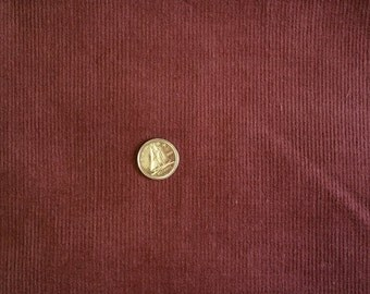 CY007 ~ Brown corduroy Pincord Reddish brown Cotton fabric