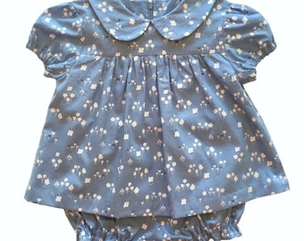 """DRESS or BLOUSE pattern for Baby or Little Girl,  digital sewing pattern, sized to fit ages 6 months-4 years, """"The Karina Pattern""""."""