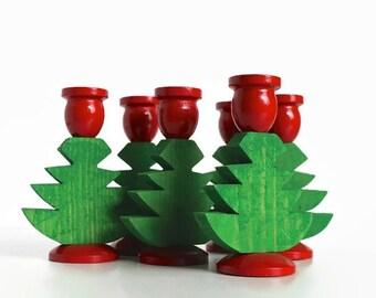 Swedish Christmas Tree Candle Holders, Vintage Christmas Candles, Christmas Tree Candles, Made in Sweden, Swedish Christmas Decor, God Jul