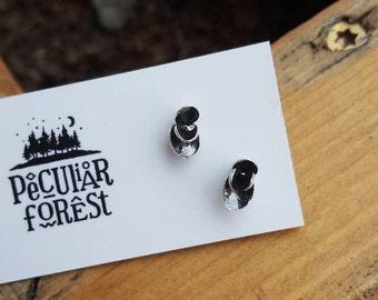 Succulent earrings - cast succulents - studs - post earrings