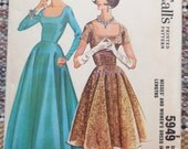 McCall's 5949 - Amazing Curvy / Plus Size 1950s Cocktail Dress or Evening Gown - Full Skirt, Fit & Flare - Size 20 (Bust 40) - UNCUT Pattern