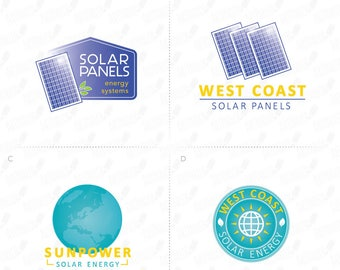 Solar Logo, Solar Panel Logo, Solar Energy Logo, Globe Logo, Earth Logo, Earth Day 2017, Renewable Energy Logo, Solar Company Logo, Sunpower