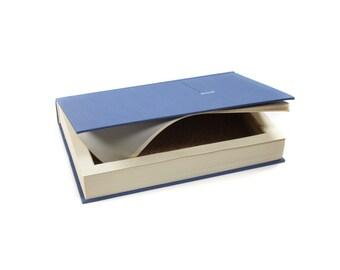 Psychology Sigmund Freud Booksafe Hollow Book Box Large Secret Storage Dark Blue Great Mens Gift Groomsmen Birthday  - READY TO SHIP