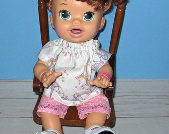 Snackin Sara, Baby Alive, Eiffel Tower Paris, Top and Short,   Fits 15  16 Inch Doll,  Doll Clothes 15 16 inch Doll