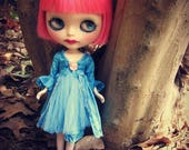 Blythe Silk Dress -  Blue Teal