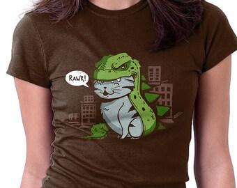 Catzilla Shirt  - Cat Shirt | T-shirt for Women Men | Movie T-shirt | Godzilla | Cute | Kitten | Nerd Shirt | Geek Tshirt | Pop Culture