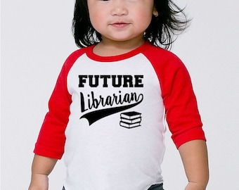 Library Science Shirt- Future Librarian Shirt- I Love Big Books Shirt- Baby Shower Gift- Funny Tshirt for toddler infant Children- #017