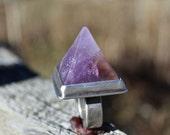 Amethyst Pyramid Ring