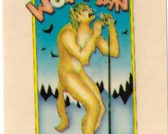 1970s Skateboard Vending Machine Stickers WOLFMAN