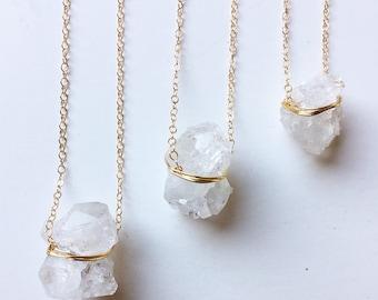 SALE Vanilla Ice Crystal Gold Necklace OOAK