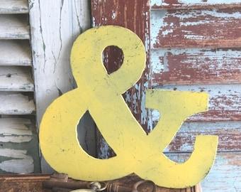 Vintage Metal Ampersand Sign by avintageobsession on etsy