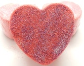 Warm Vanilla Sugar Bath Bomb, Valentine's Day, Heart Shaped, Bath Fizzy, Bath Bomb, Bath Melt, (BBW dupe) Large Bath Bomb, 4+ ounces