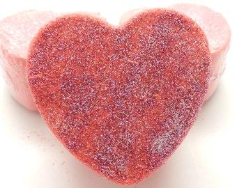 Warm Vanilla Sugar Bath Bomb, Heart Shaped, Bath Fizzy, Bath Bomb, Bath Melt, (BBW dupe) Large Bath Bomb, 4+ ounces