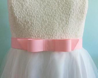 wide bow belt - pink belt,  fabric belt -  wide belt - wide belt - plus size - 2 inch wide