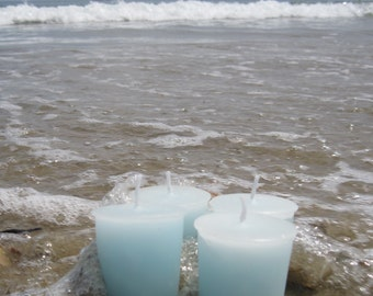 SEA AND SAND (4 votives or 4-oz soy jar candle)