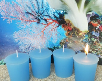 CARIBBEAN TEAKWOOD (votives or 4-oz soy jar candle)