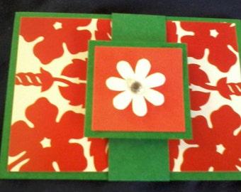 Gift Card Holder, Money Holder, Recycled Paper Craft, Money Envelope, Gift Card Packaging, Gift Envelope, White Flower, Christmas Flower