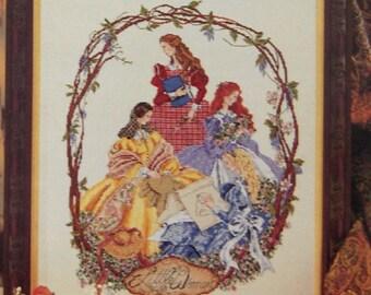 vintage 1996 Michael jolly  cross stitch patterns LITTLE WOMEN