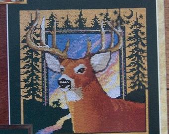 vintage 1995 cross stitch pattern Ten Point Buck