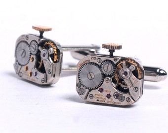 Vintage Watch Movements Steampunk Cuff Links