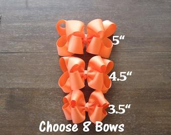 U Pick 8, Lot set, girls boutique bows, girls hairbows, baby bows, 4 inch bows, 5 inch bow, bow sets, bulk bows, bow bundles, layered, dcp